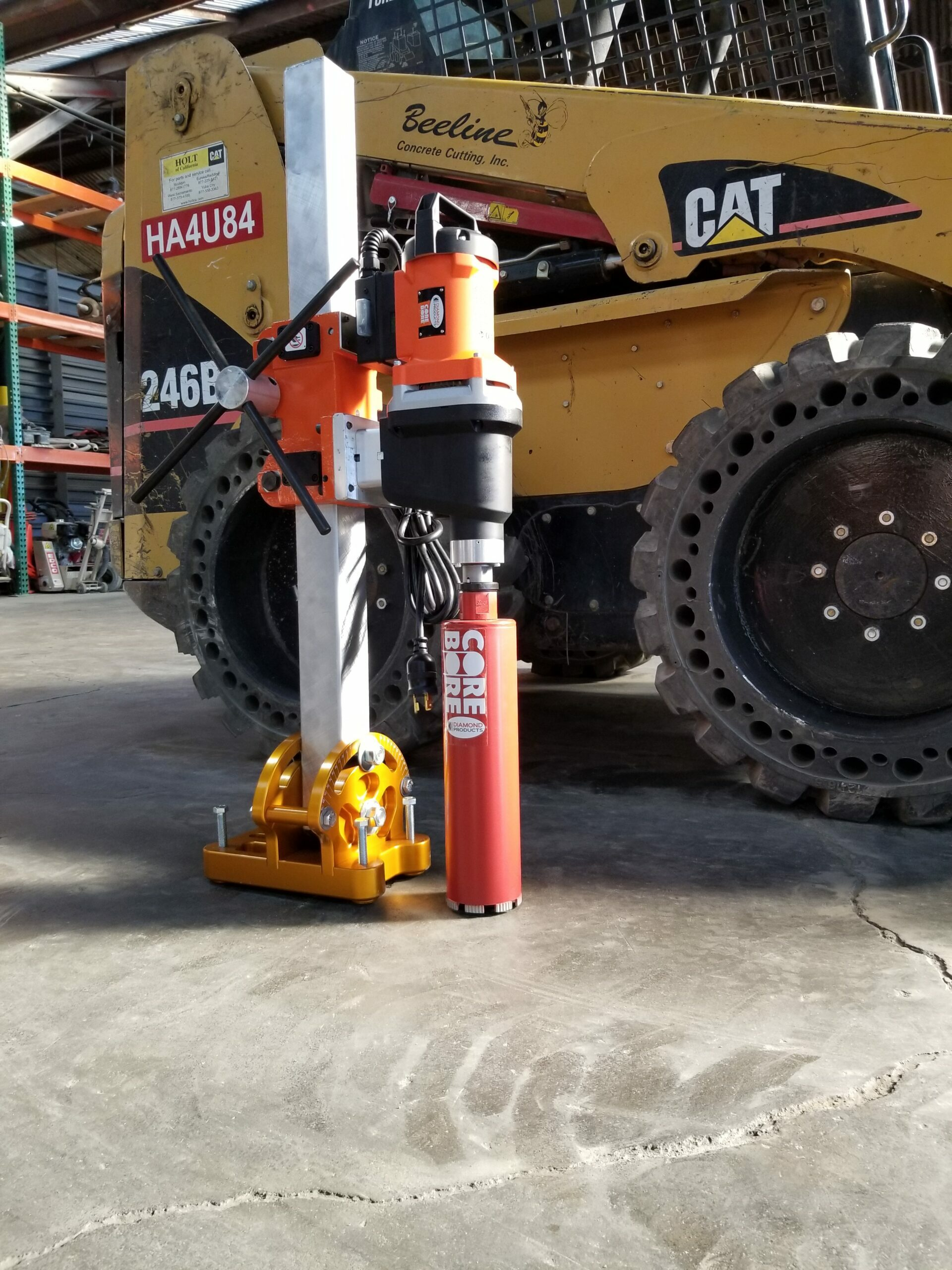 Parallel Stand for Concrete Core Drilling